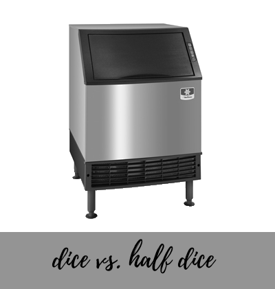 half dice ice cubes